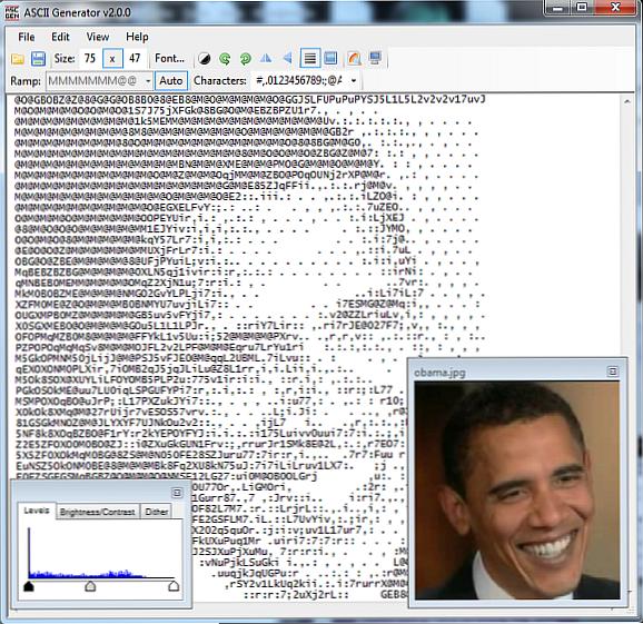 Bilder generator ascii IMG2TXT: ASCII